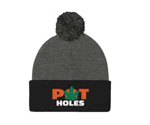 Image of PotHoles Toque aka Beanie you can buy, this image is downloadable if you want to join our affiliate program.