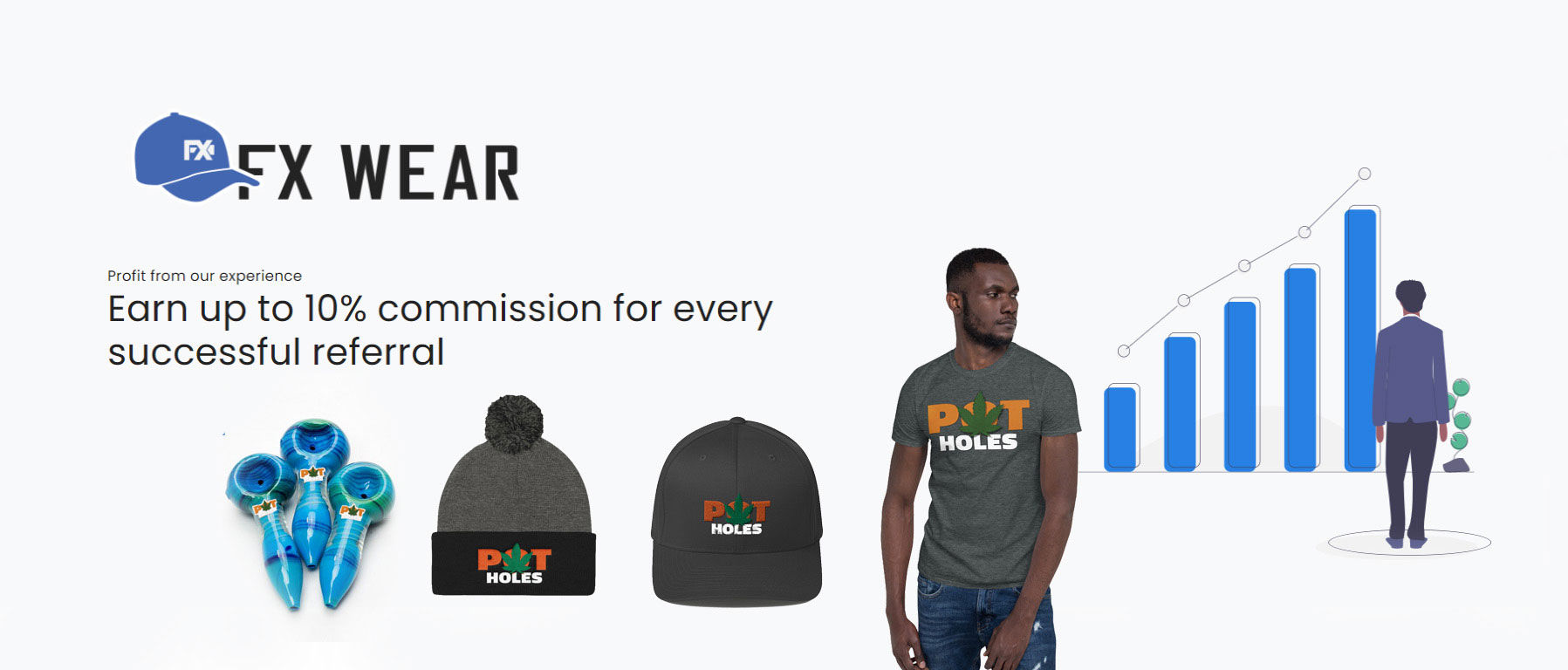 Affiliate Image, click on it to make money selling PotHoles Merchandise and other products from the FX-Wear store.