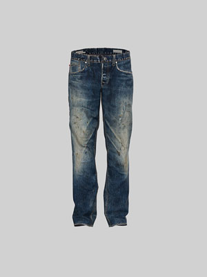 Rendered image of a 3d jeans