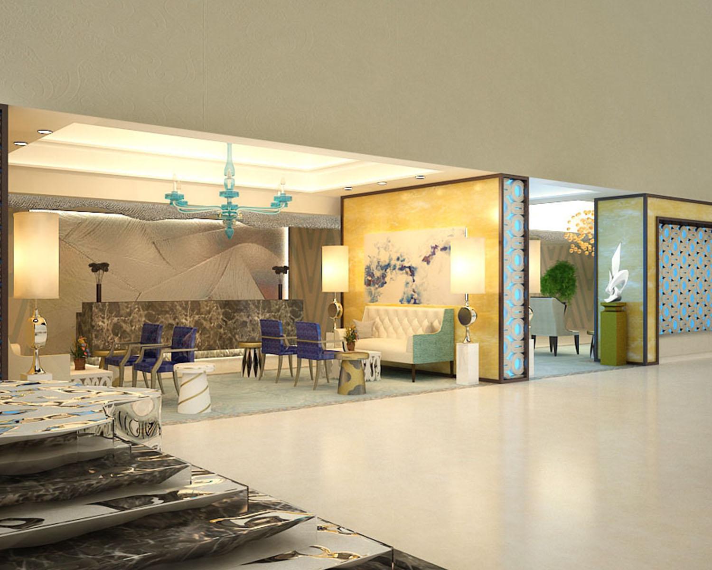 Ozzykdesigns - Hotel Lobby Rendering