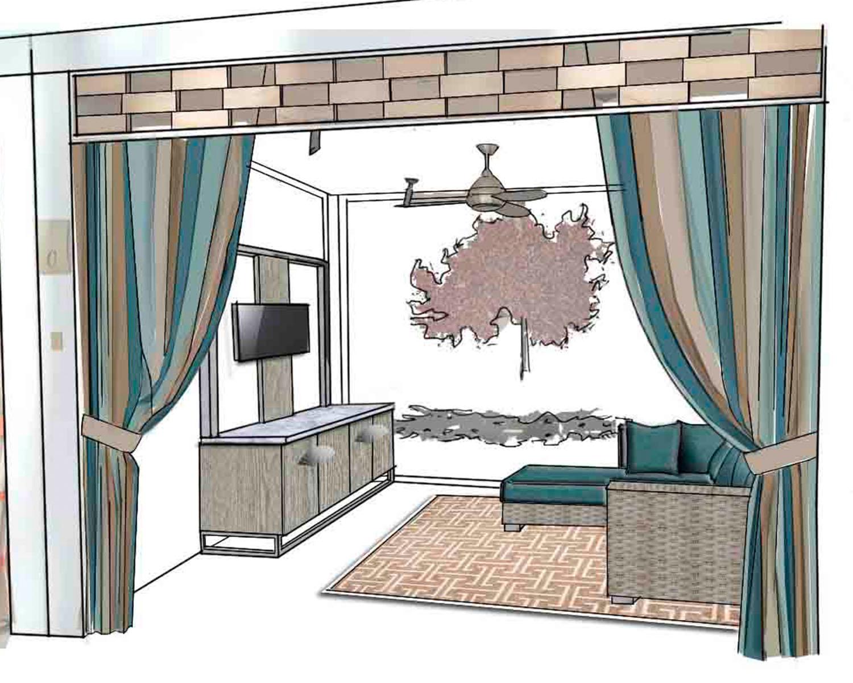 Ozzykdesigns - Mandarin Oriental Las Vegas Cabana Rendering
