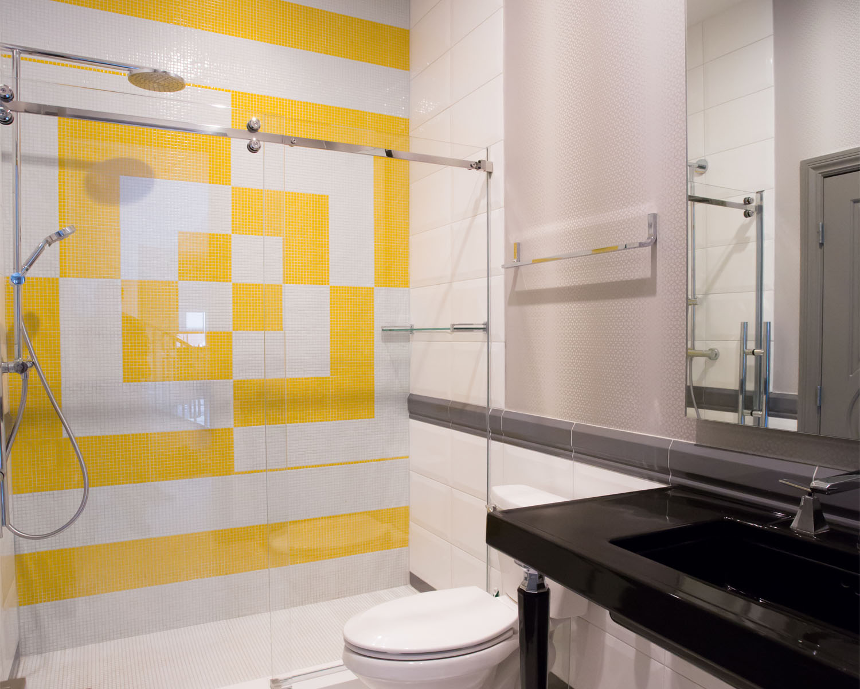 Ozzykdesigns - Geometric Bathroom