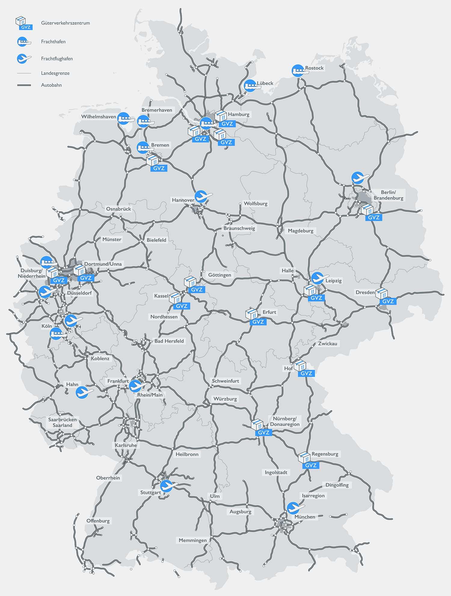 Logistikkarte Deutschland