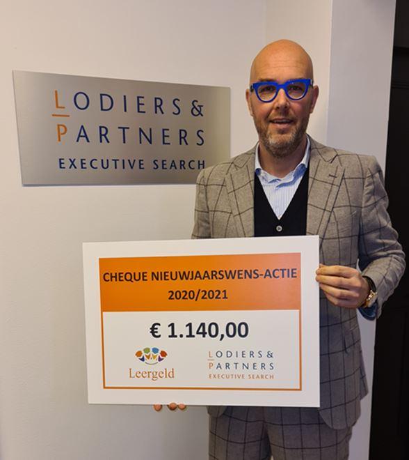 2020 - Nieuwjaarswensen zorgen voor donatie van € 1.140 aan Stichting Leergeld
