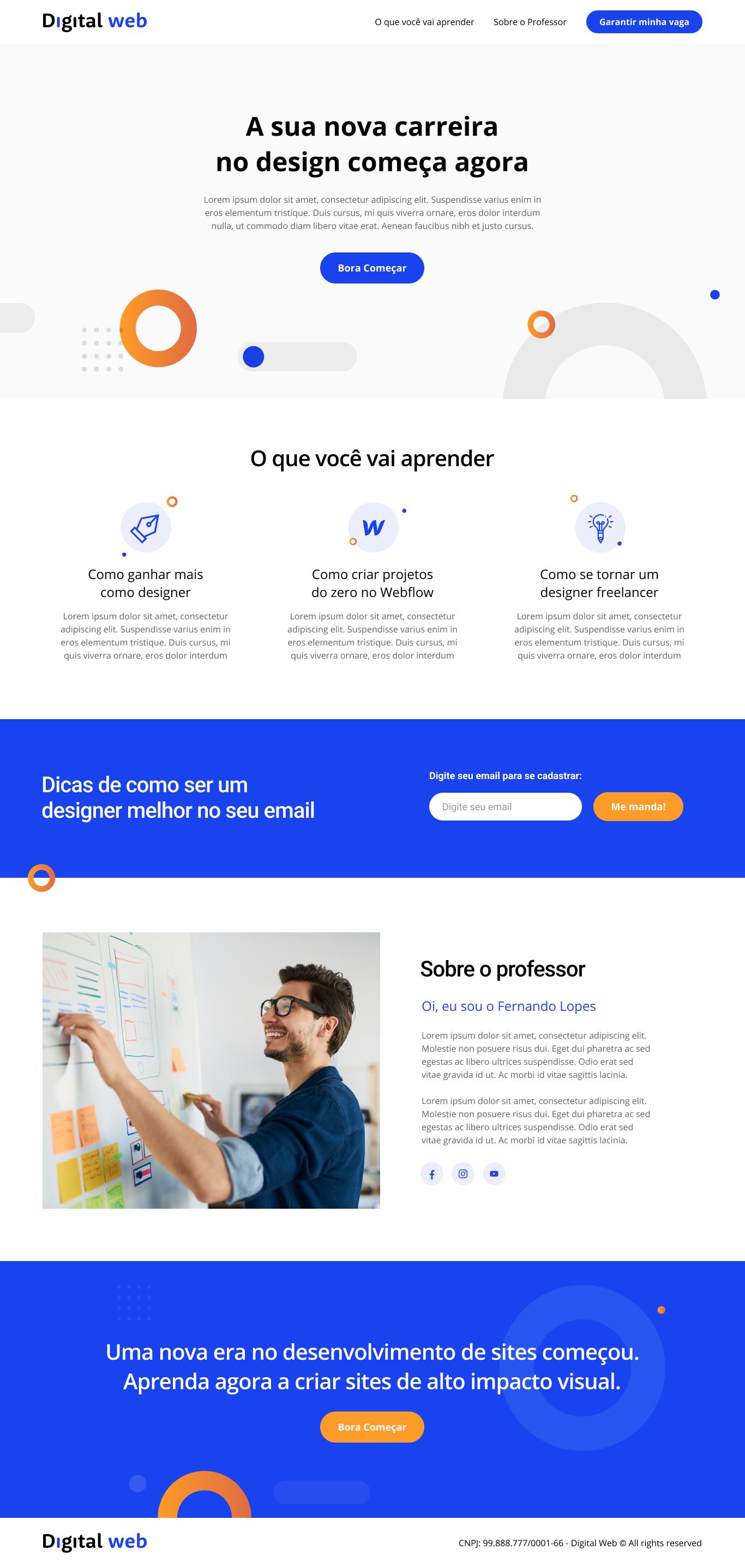 projeto criado no curso de webflow