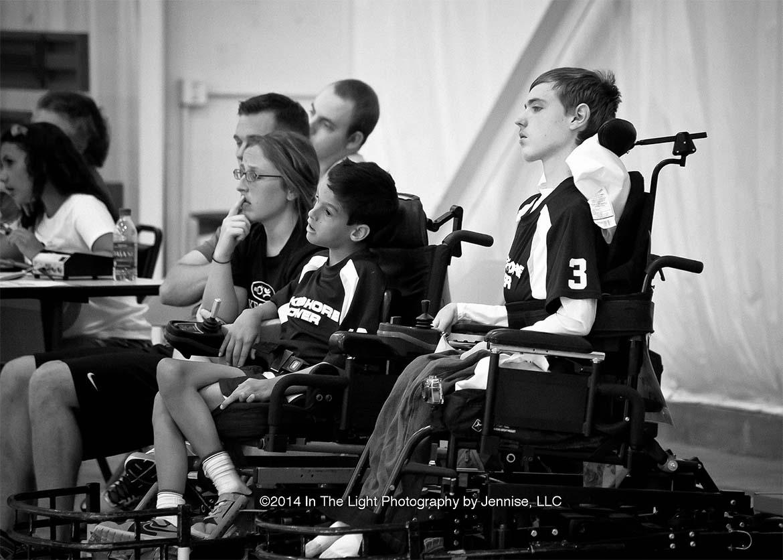 Team Members on sideline