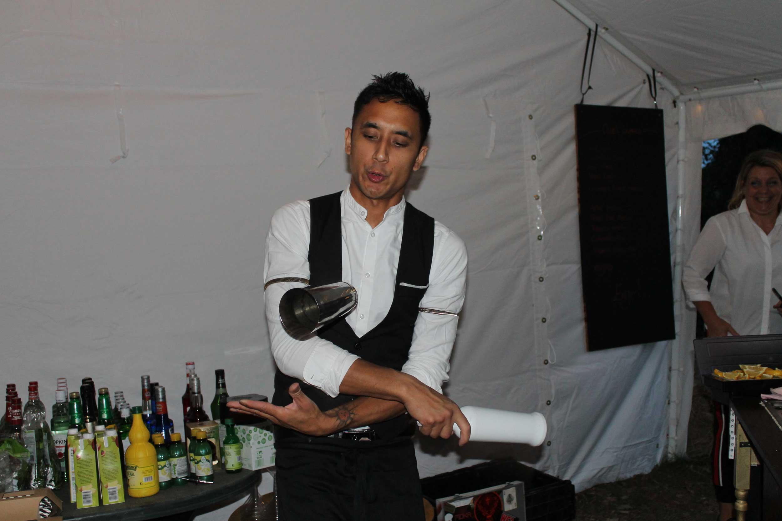 Cocktail cart flair