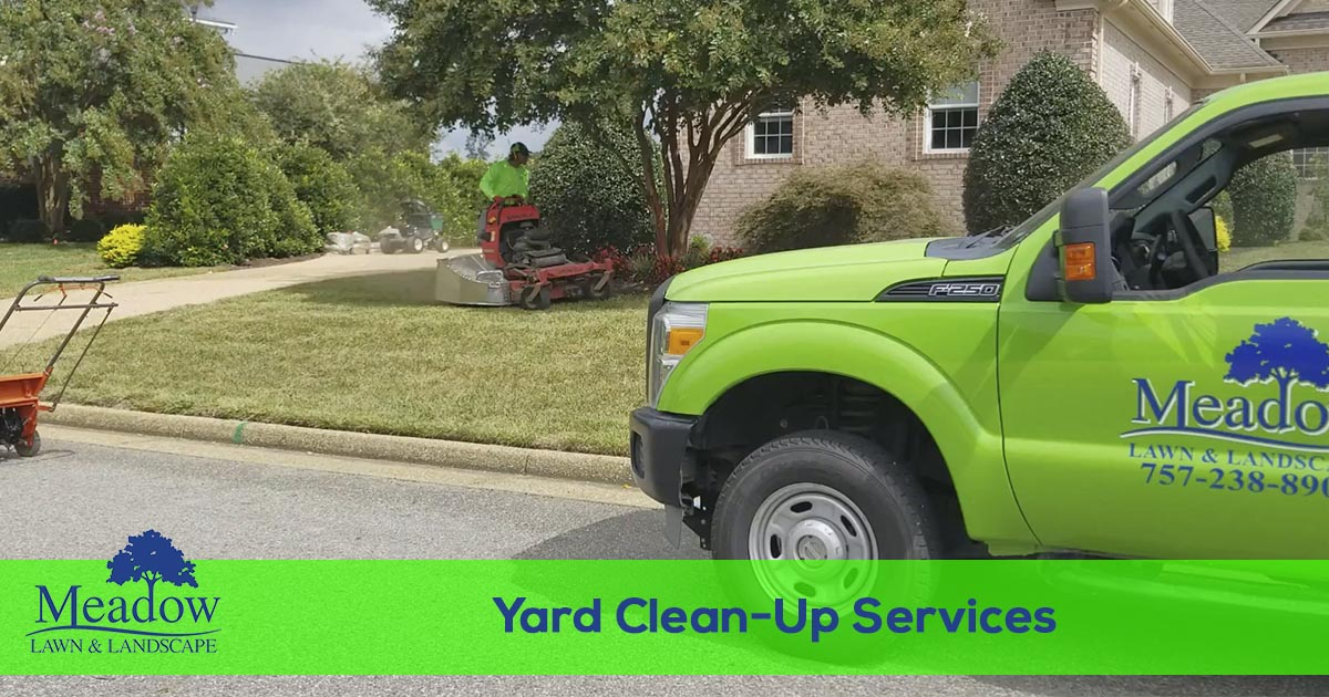 Leaf removal and yard clean-up services