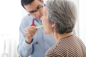 An ENT & Patient work together to find solutions to conditions of the Ear, Nose, and Throat