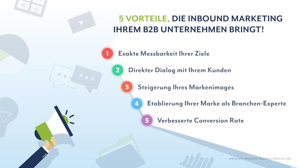 Vorteile InboundMarketing für B2B Unternehmen