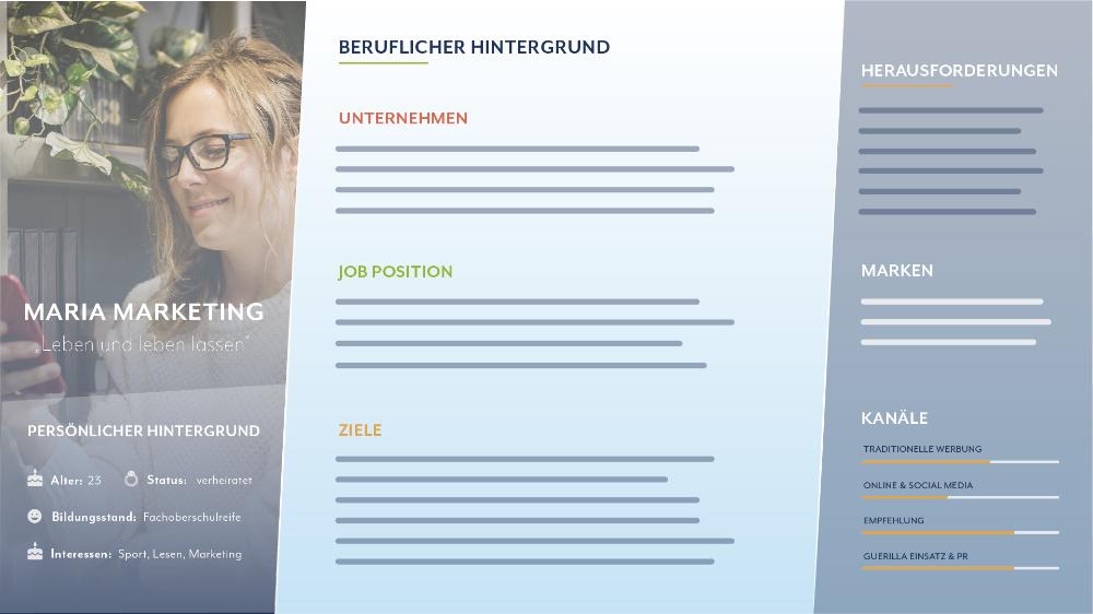 FRAGENKATALOG FÜR DIE ERSTELLUNG EINER BUYER PERSONA