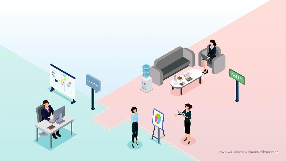 Vertrieb und Marketing Zusammenarbeit