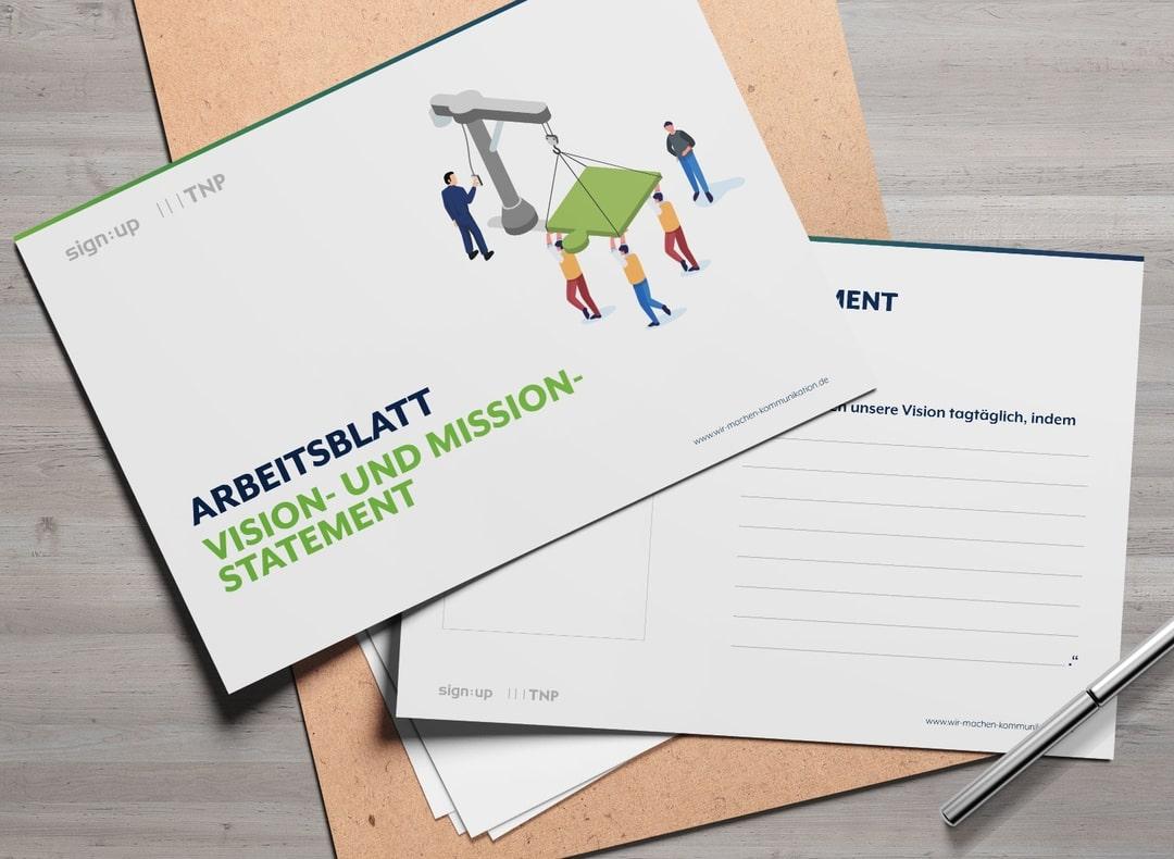 ARBEITSBLATT VISION- UND MISSION STATEMENT