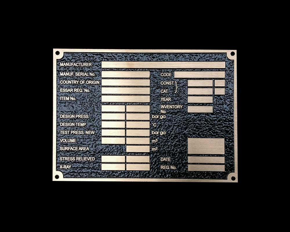 "600MM X 300MM (24"" X 12"") BRONZE BLACK BACKGROUND - LAWN CEMETERY PLAQUE"