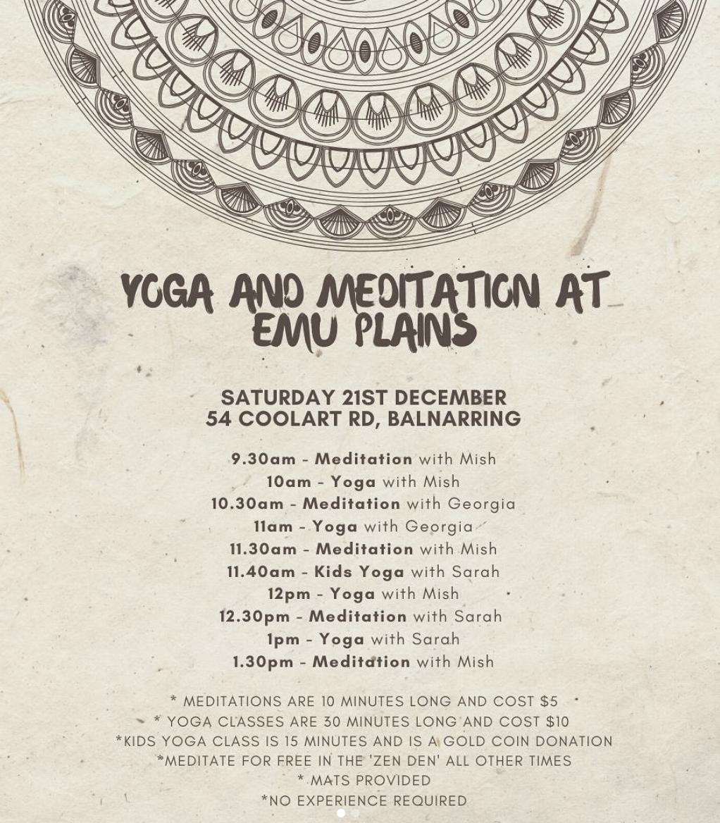 Yoga #underthestringybarks