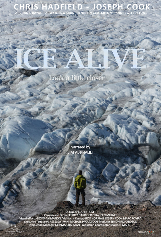 Poster for short film, Ice Alive