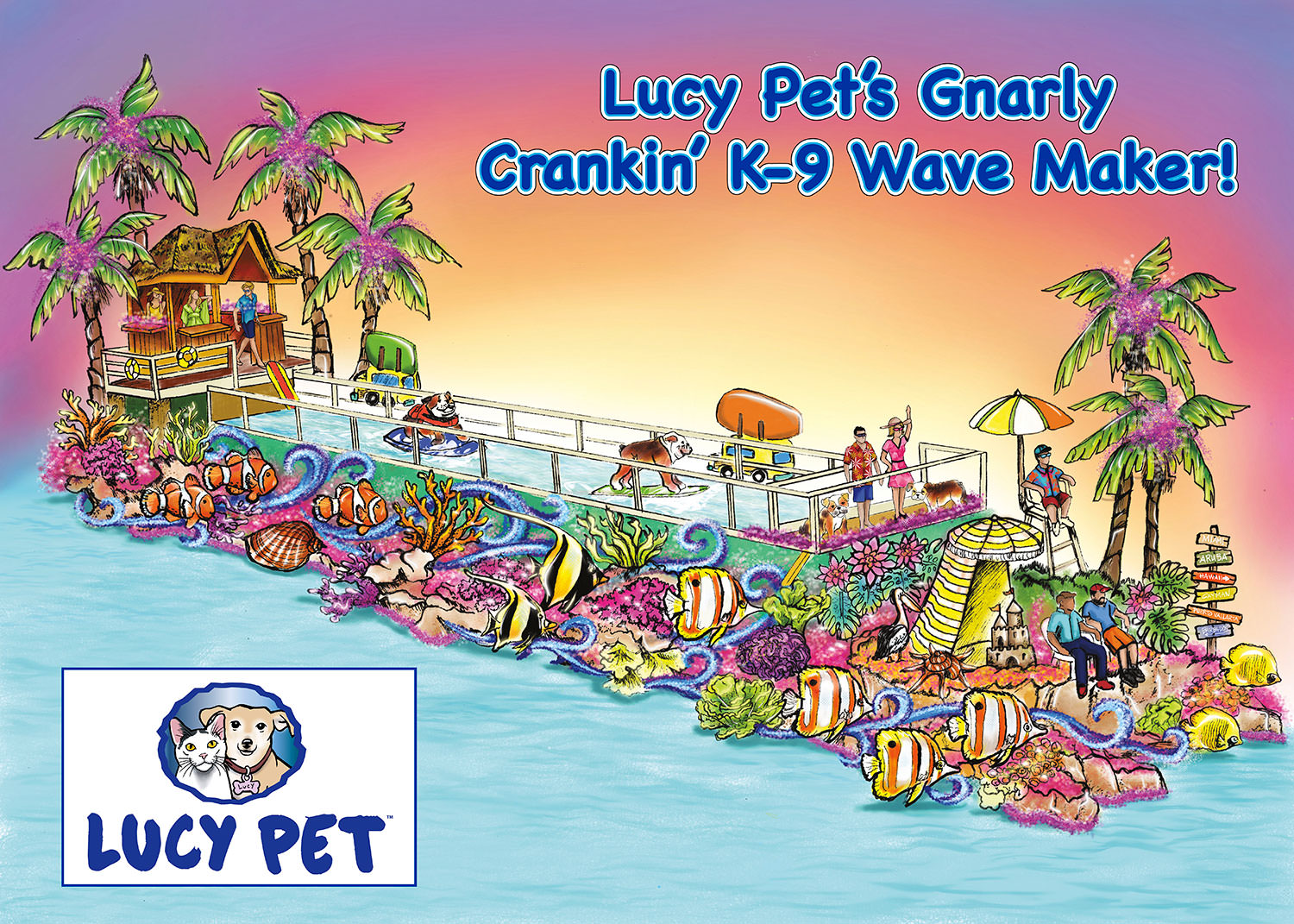"""Gnarly Crankin' K-9 Wave Maker!"""