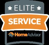 Awarded for Elite Service by HomeAdvisor