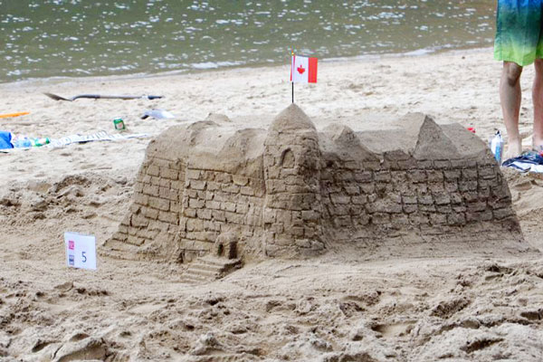 canada day lakeside park sand castle