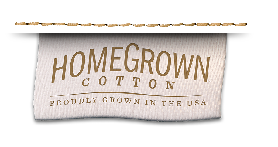 HomeGrown Cotton tag - Proudly Grown in the USA