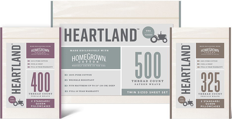 Heartland sheets packaging
