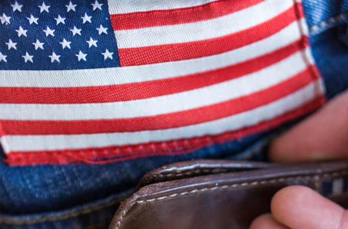 jeans with american flag