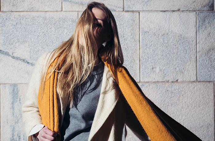 Fashionable woman in coat
