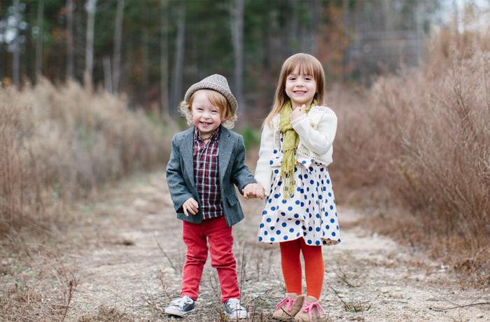 kids on path