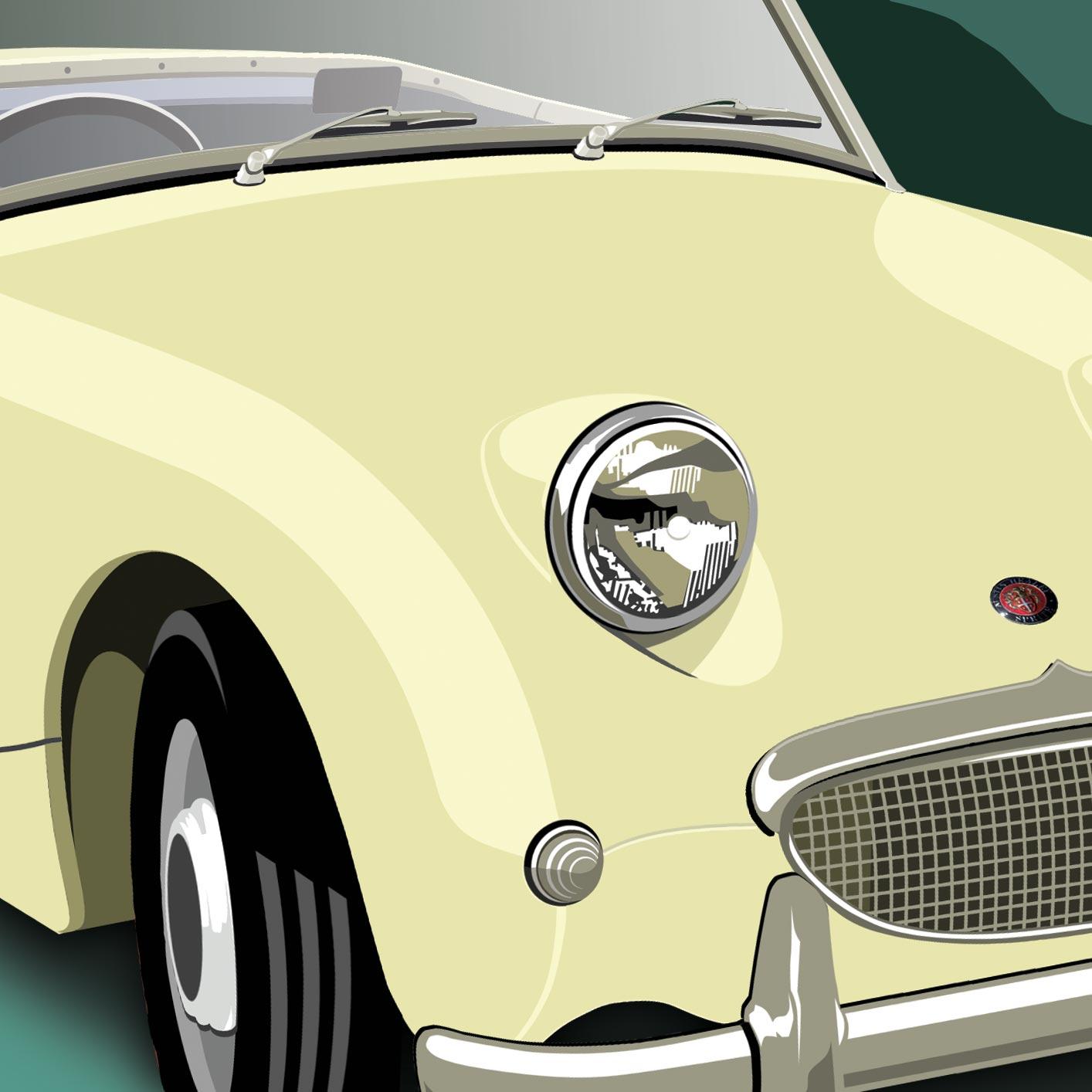 Austin Healey Sprite Car Illustration