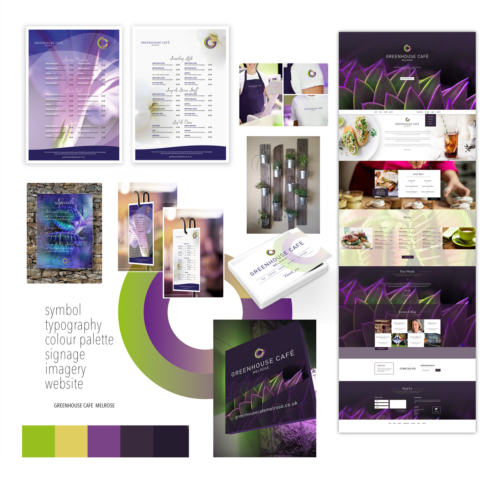 John Hamlin Greenhouse Cafe Branding Mood Board Design