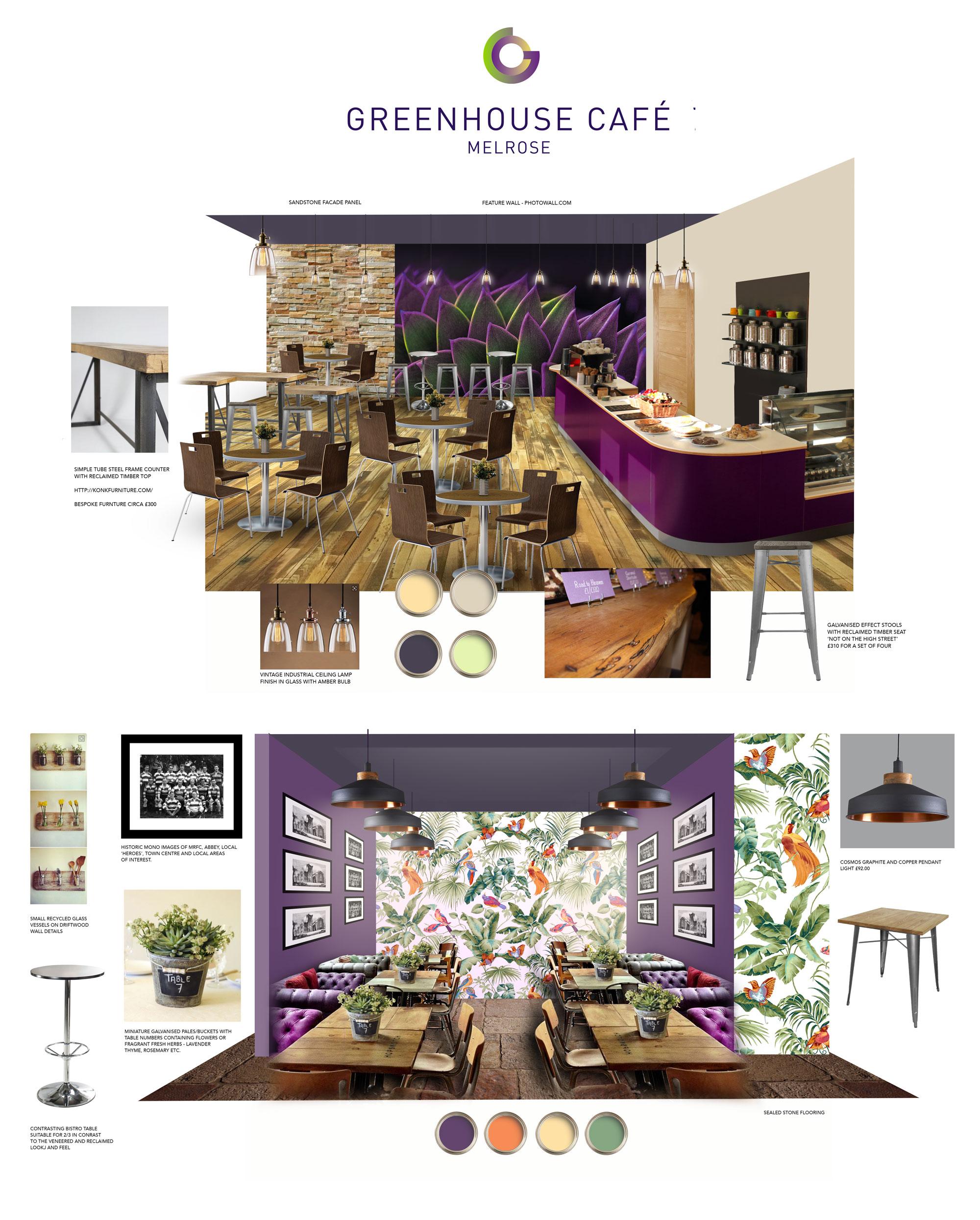 John Hamlin Greenhouse Cafe Melrose Interior Design