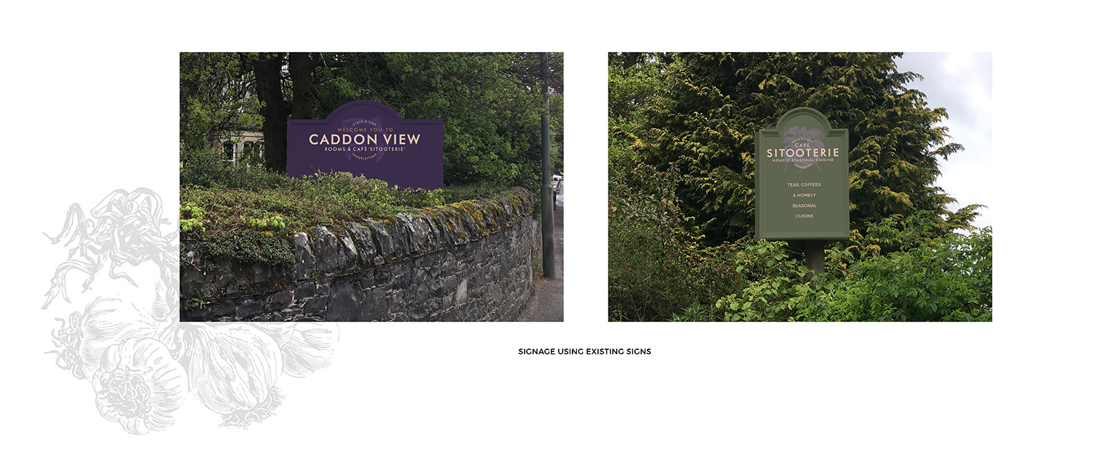 John Hamlin Caddon View Guest House Signage Design