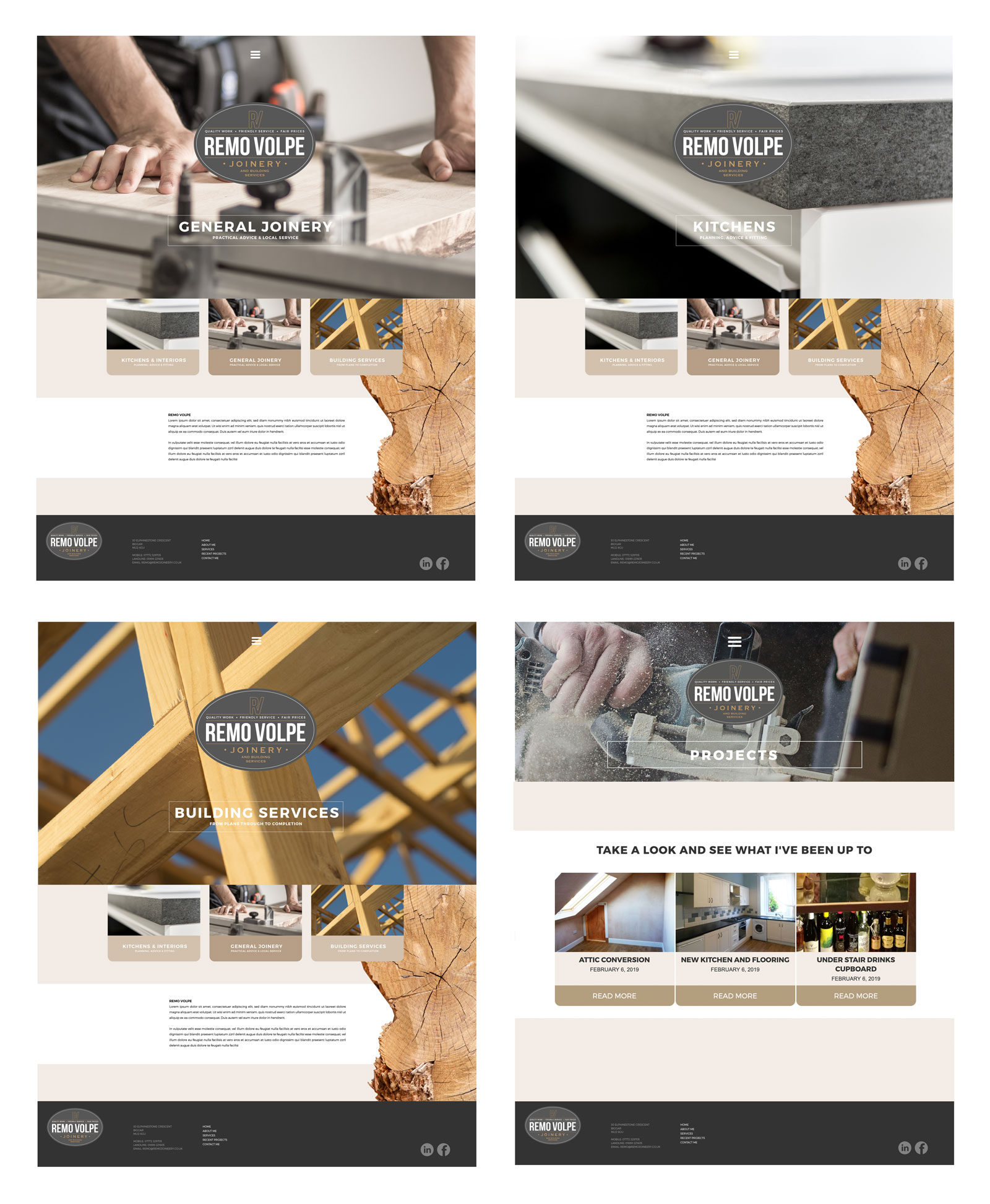 Remo Volpe Joinery Services Branding & Website Design