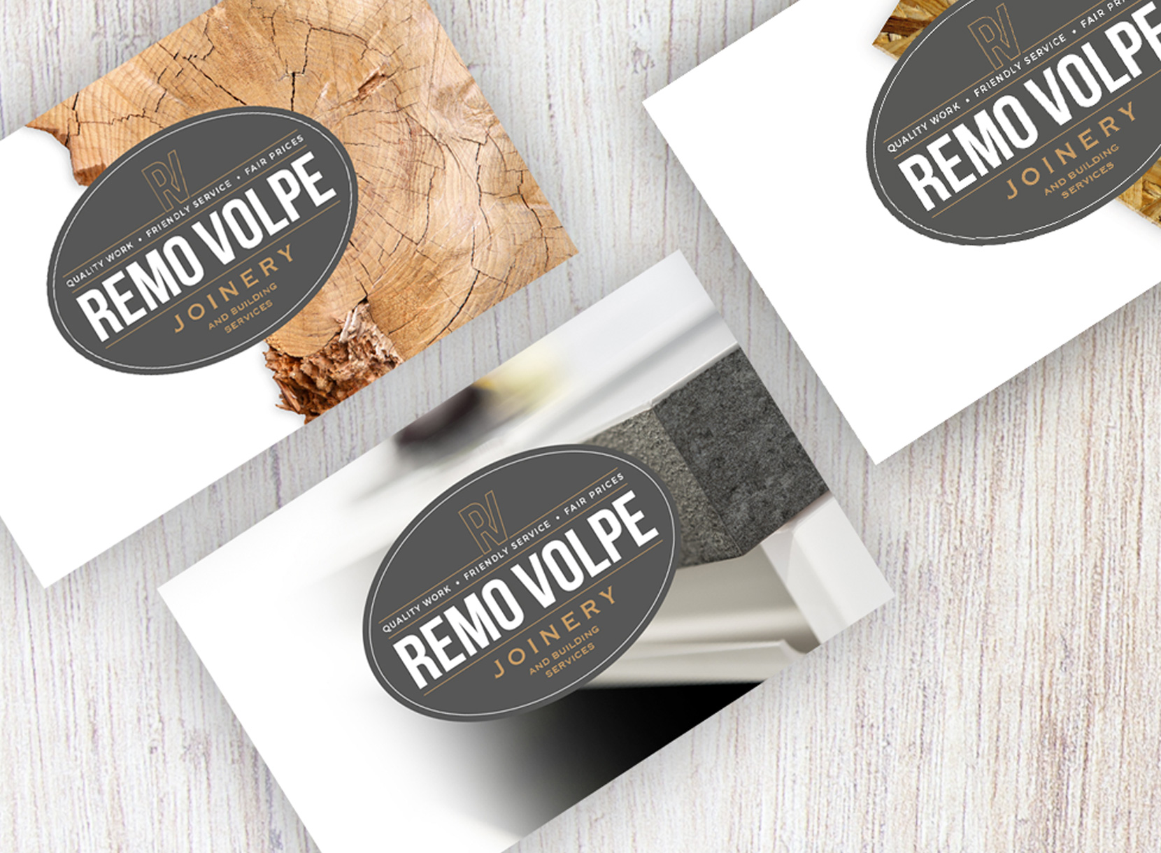 John Hamlin Brand & Web Design Remo Volpe Business Cards Design
