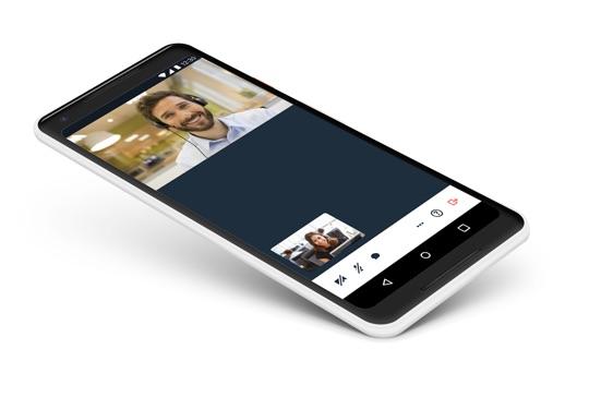 Mobile call illustration