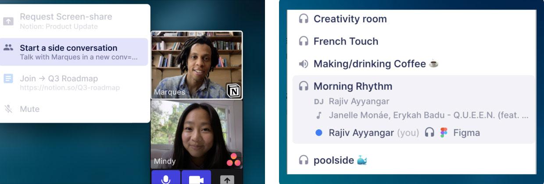 Tandem UI screenshots