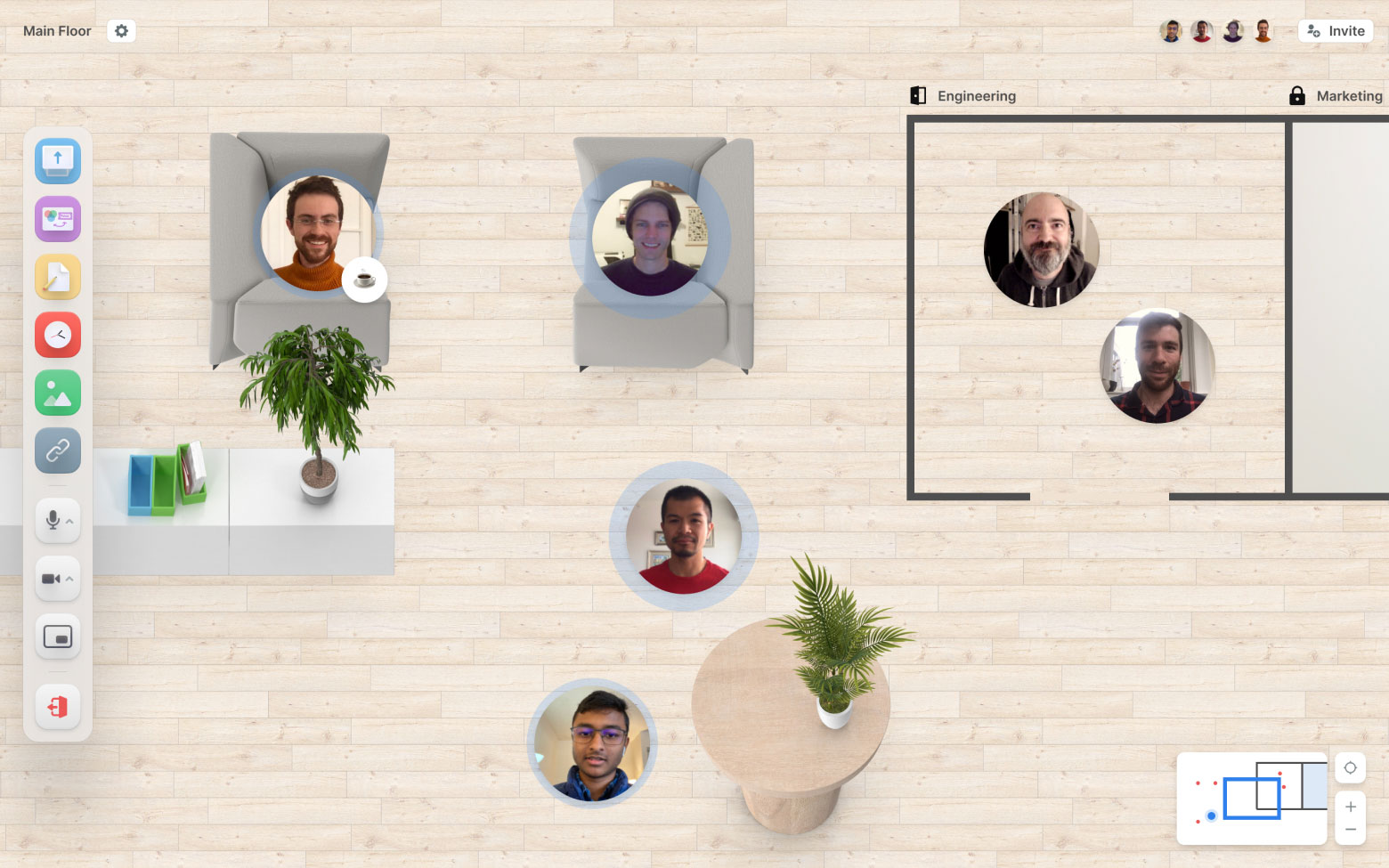 Teamflow spatial user experience