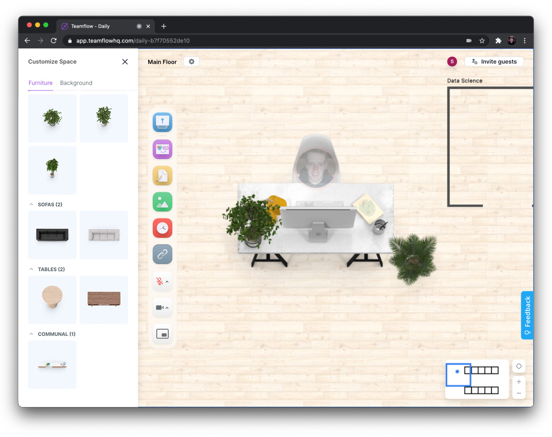 Teamflow room customization
