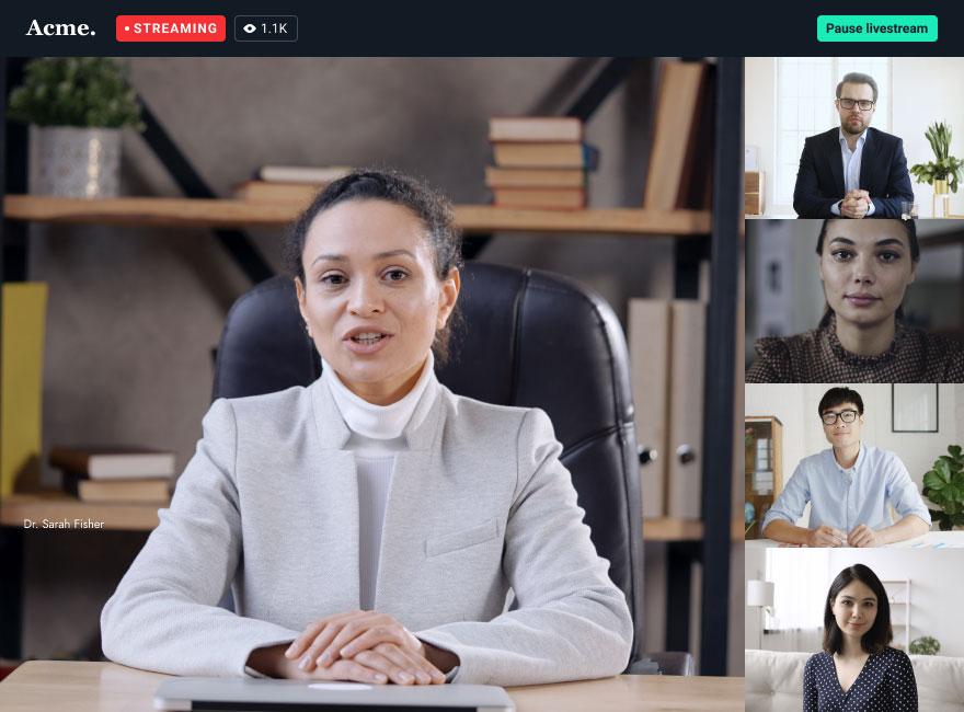 Live streaming desktop illustration