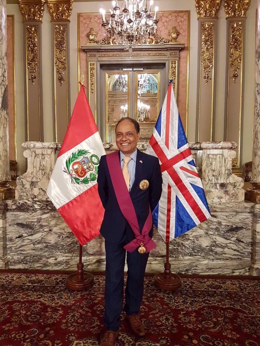 The British Ambassador to Peru, Anwar Choudhury