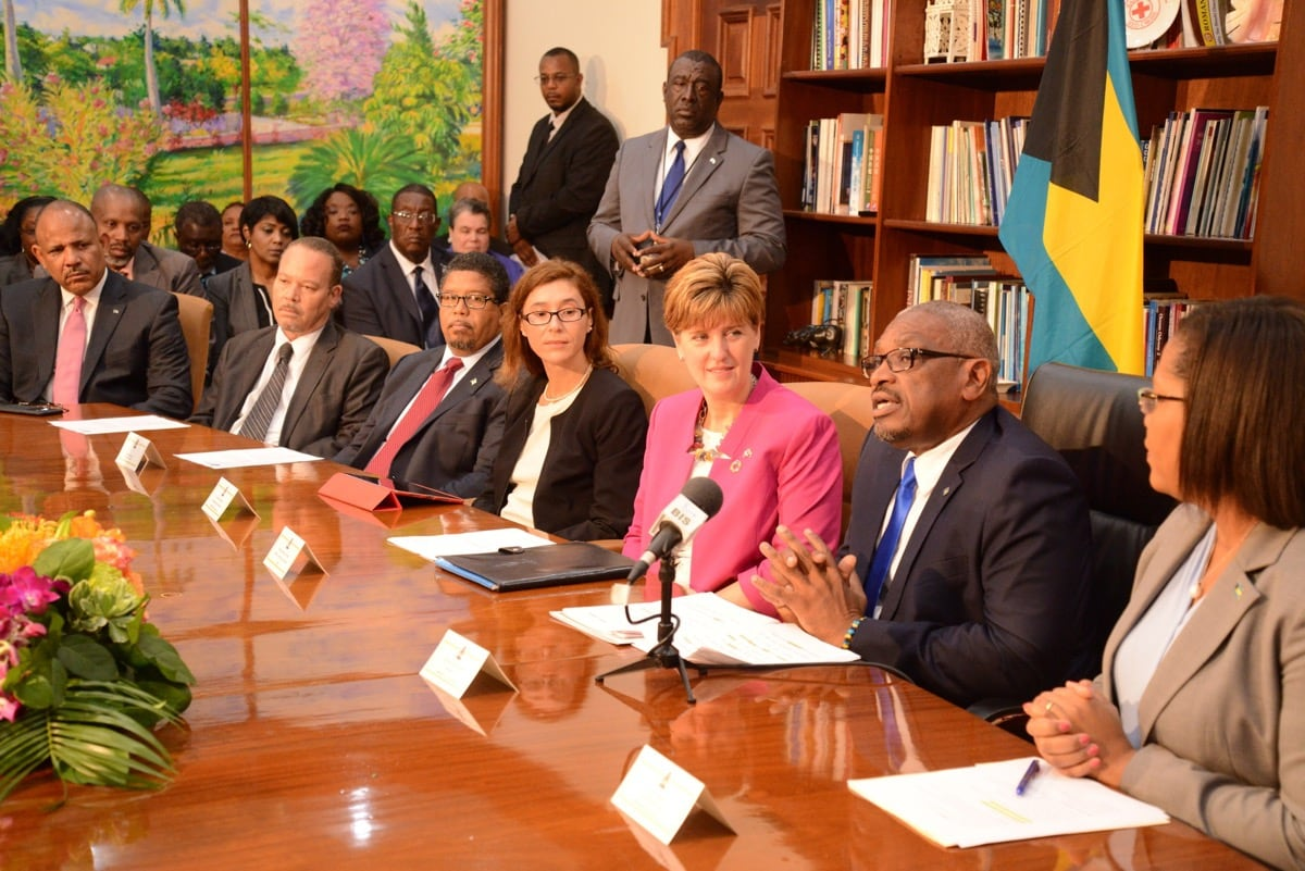 The Prime Minister of the Bahamas, Dr. the Hon. Hubert Minnis launches Prime Minister Delivery Unit (PMDU)