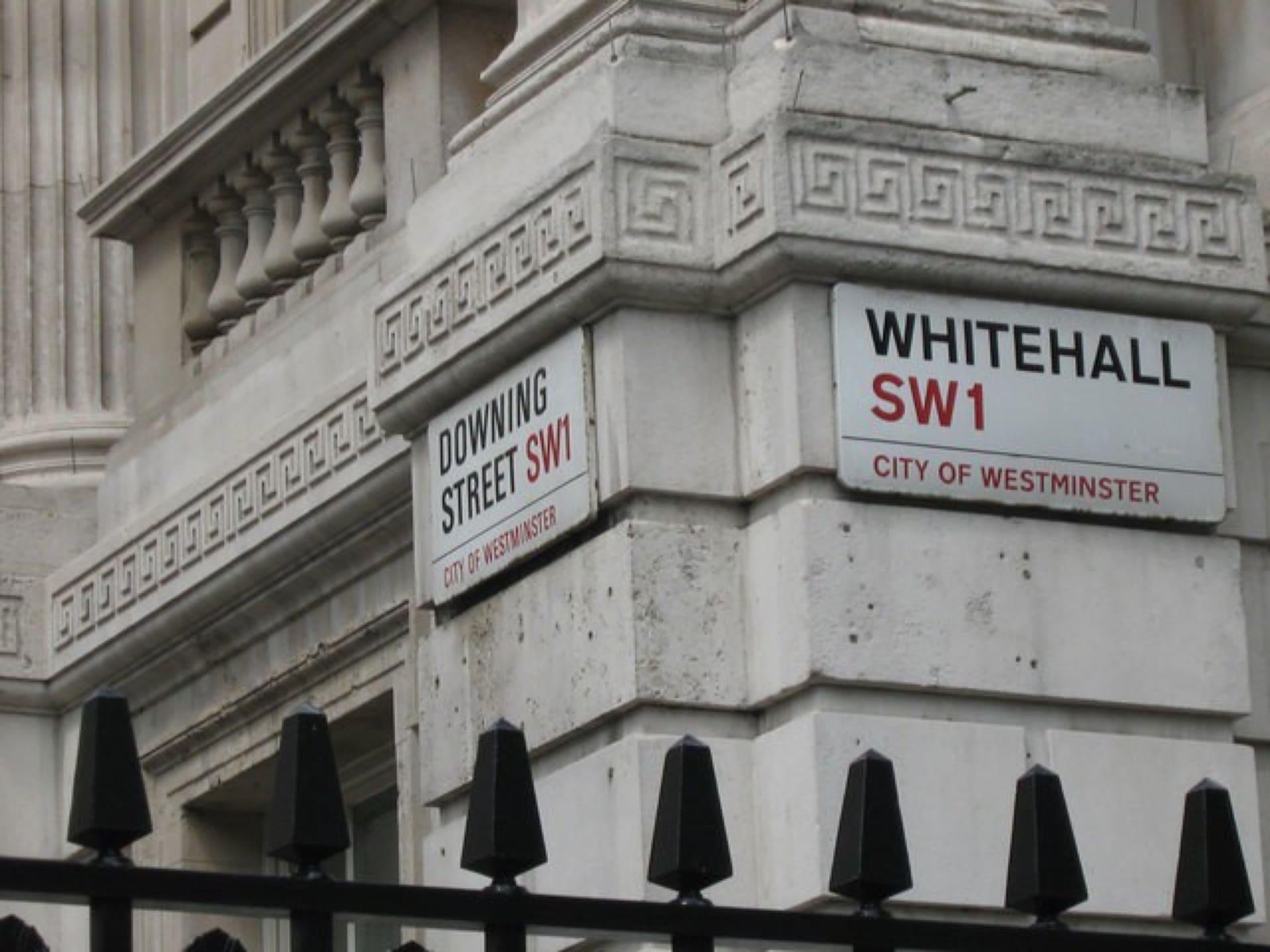 Whitehall UK street sign