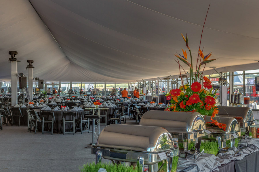 Catered Meal Under Large Tent