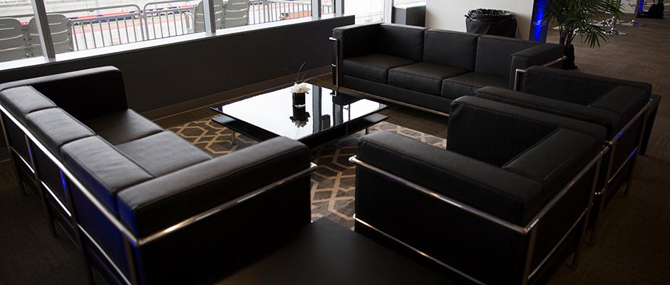 Black & Chrome Furniture Set