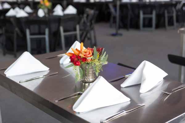 Napkins & Table Centerpiece