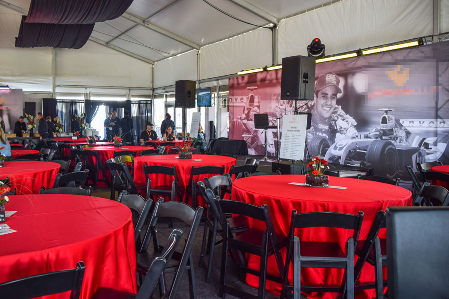 Red Tables & Stage