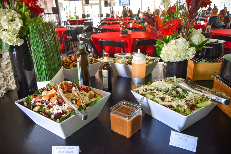 Catered meal salad