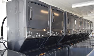 Interior of Mobile Laundry Trailer
