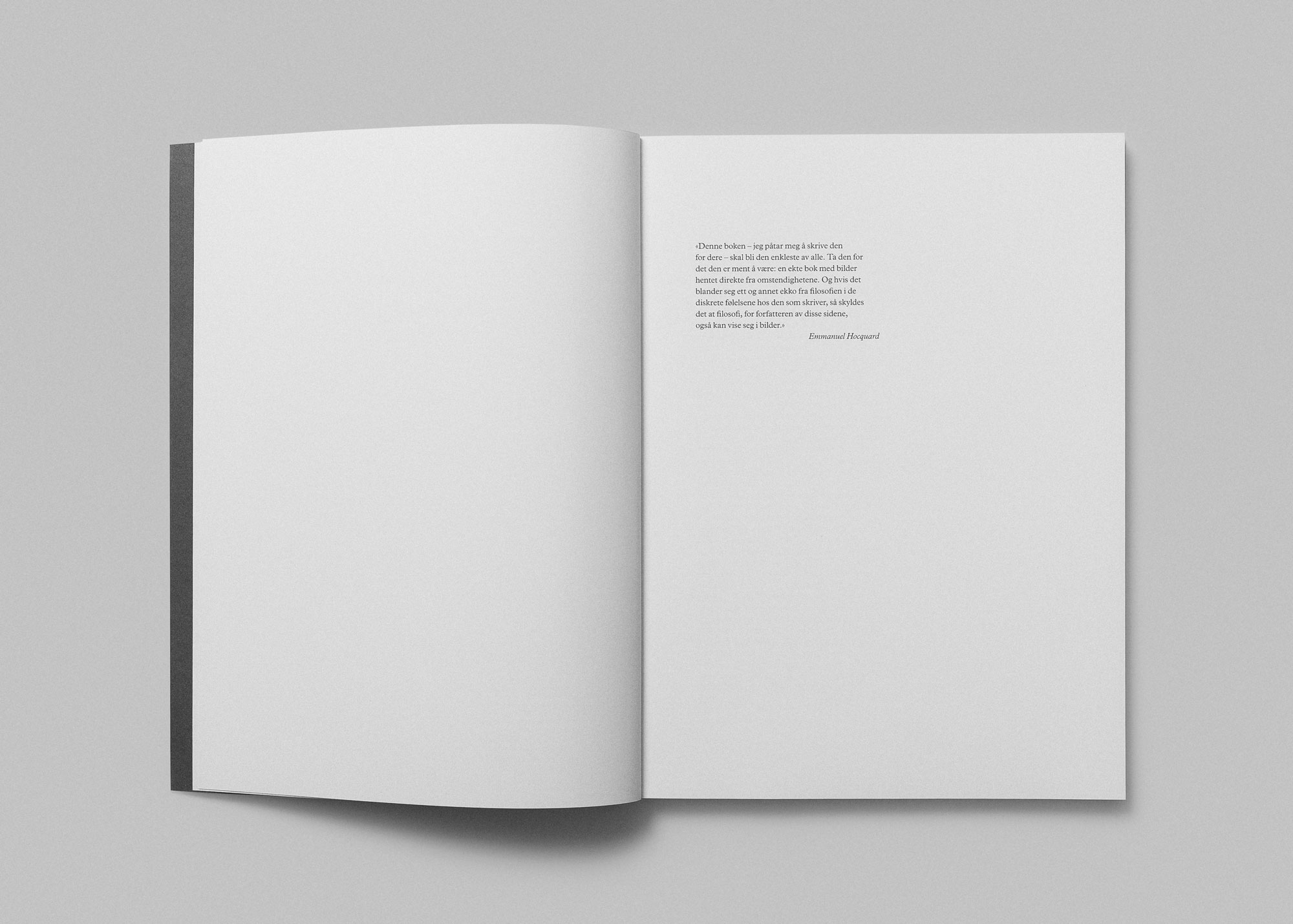 Tomas Espedal photo book