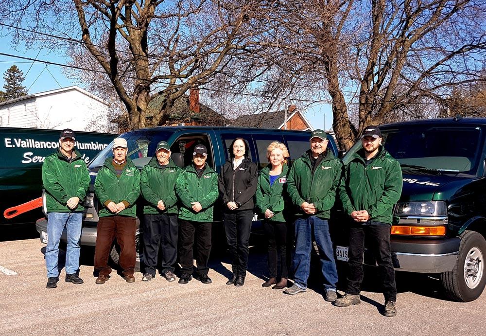 Vaillcourt Plumbing Team Photo